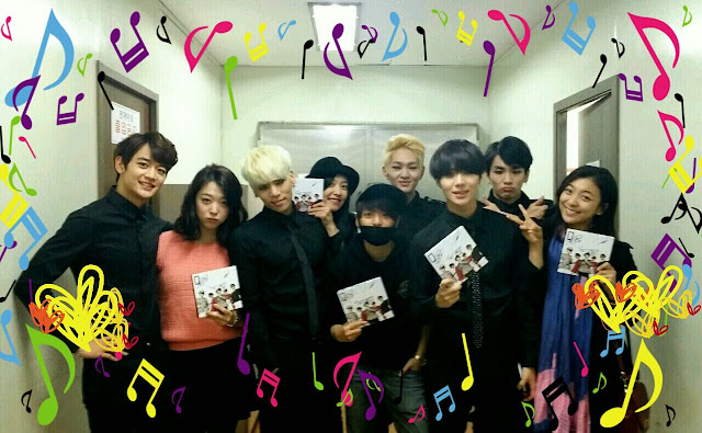 shinee wins on music bank 131025 with f(x) backstage
