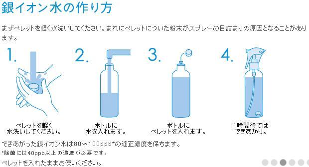 銀イオン水 作り方