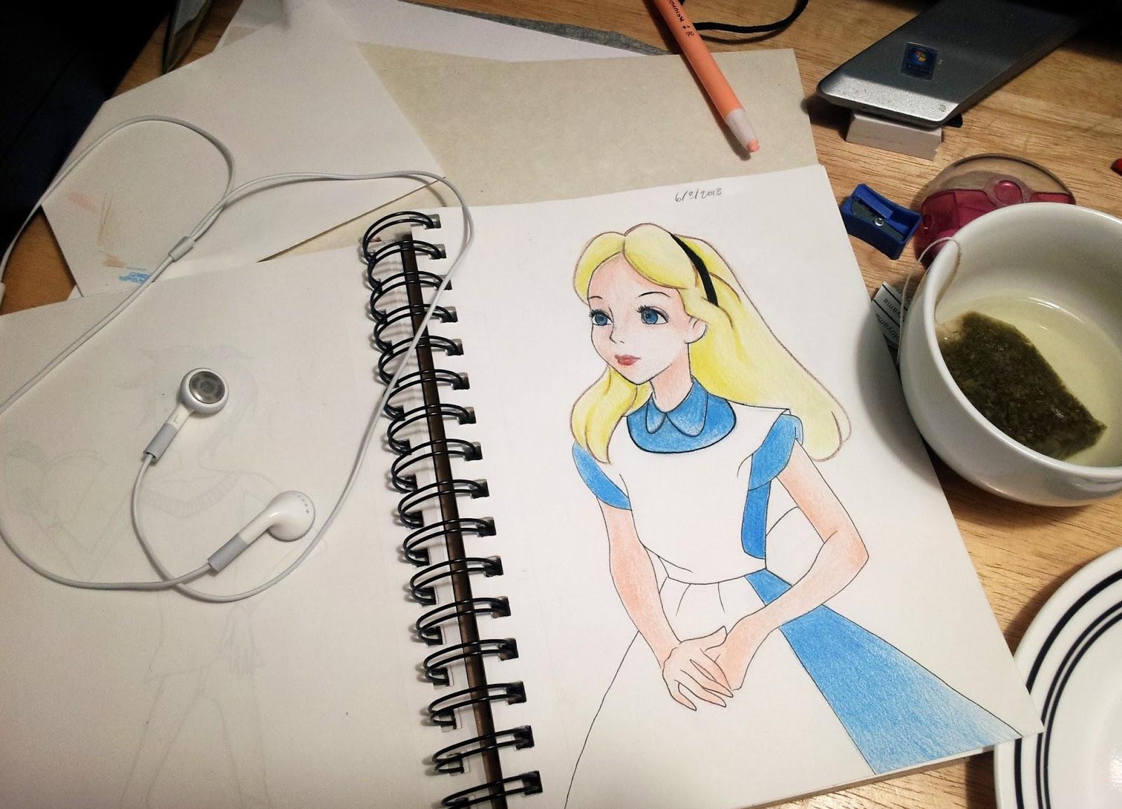 practicing disney drawings