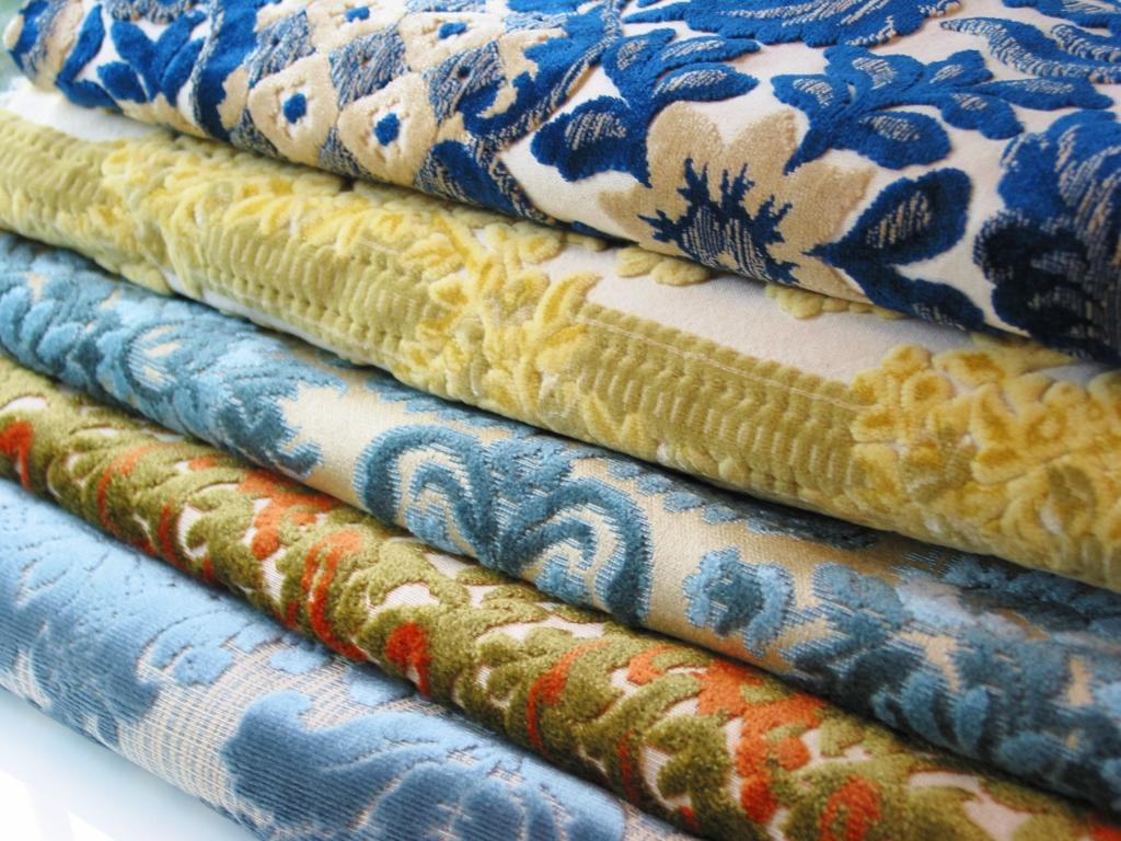 Niesz Vintage Home d fabric Vintage Cut Velvet Fabric