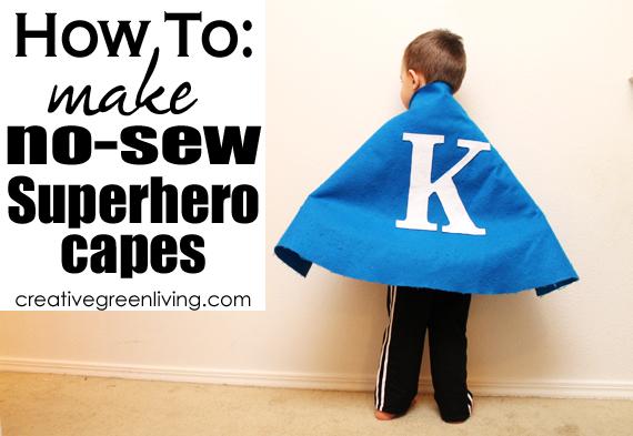 How To Make A No Sew Superhero Cape Creative Green Living
