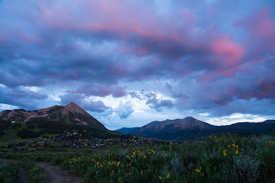 Mt. Crested Butte and Whetstone Peak at Sunset