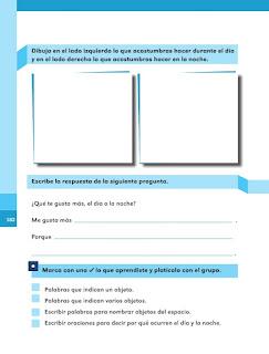 Apoyo Primaria Español 1er grado Bimestre 5 lección 4 Objetos en el cielo