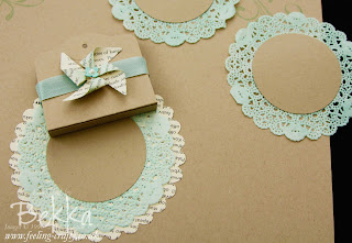 Pin Wheel and Doily Place Settings by Stampin' Up! Demonstrator Bekka Prideaux
