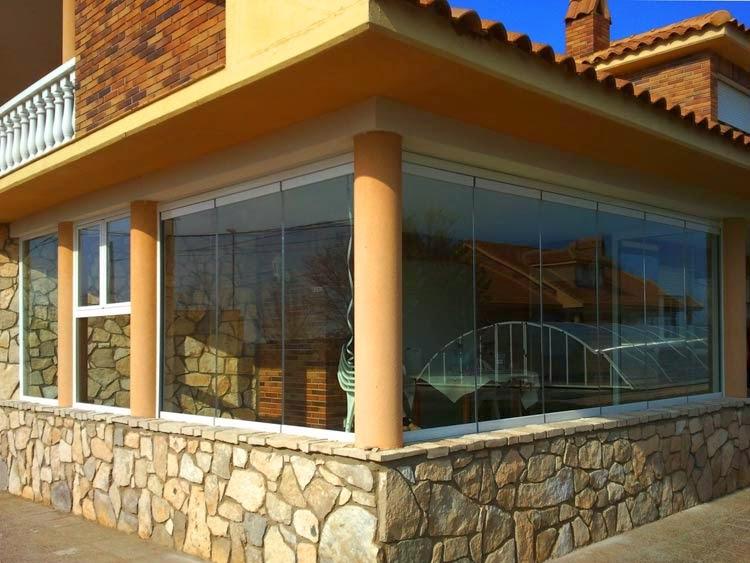 cortina de cristal para cerramiento de terraza