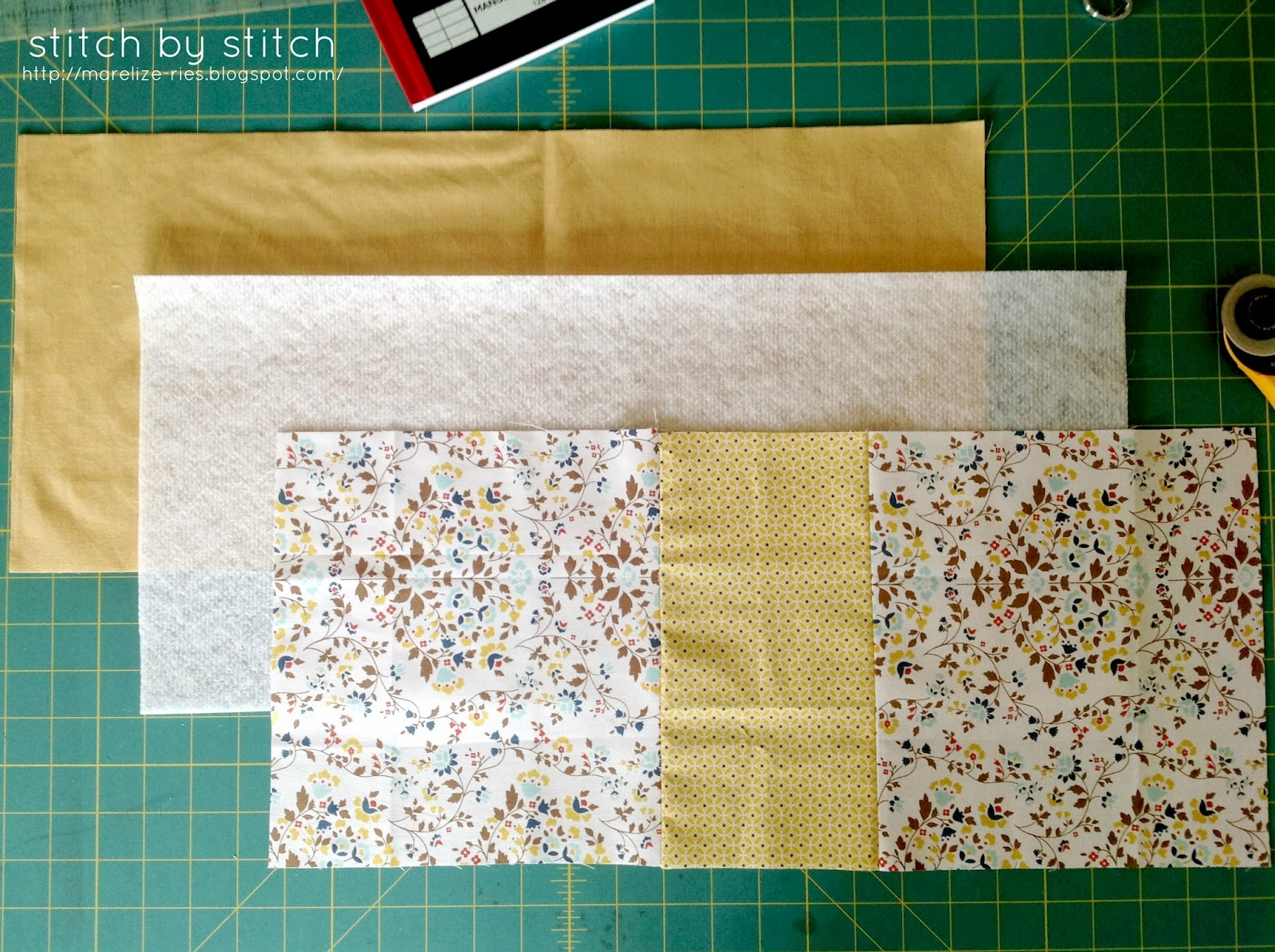Fabric Book Cover Material ~ Stitch by fabric book cover tutorial