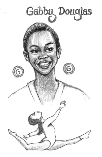 Gabby Douglas Free Coloring Pages