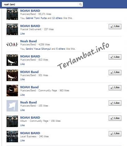 Kumpulan Fans Page Noah Band Tidak Asli