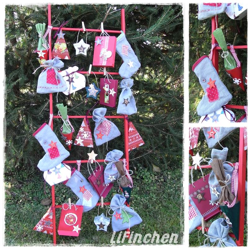 Lifinchen creadienstag kunderbunter adventskalender for Kalender zum selberbasteln