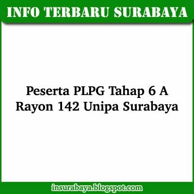 Daftar Nama Peserta PLPG 2013 Tahap 6 A Rayon 142 Unipa Surabaya