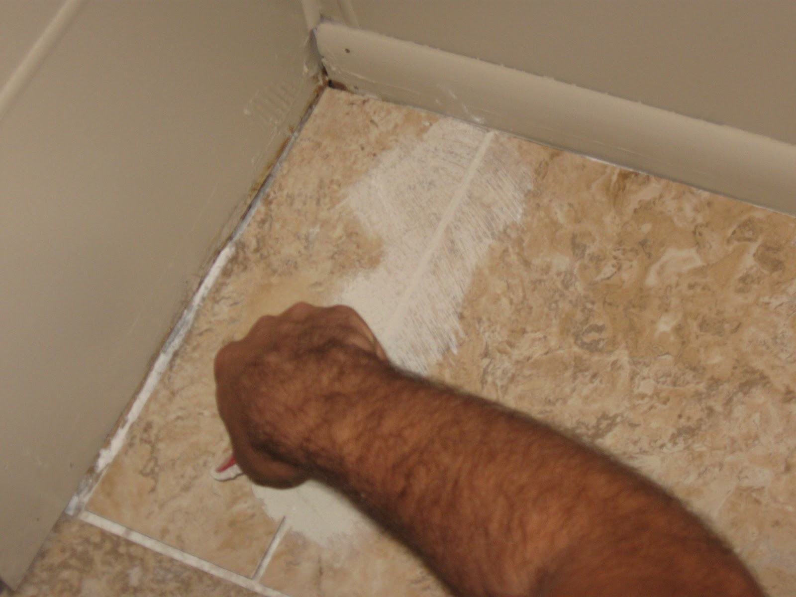The rehomesteaders diy grouted vinyl tiling diy grouted vinyl tiling dailygadgetfo Choice Image