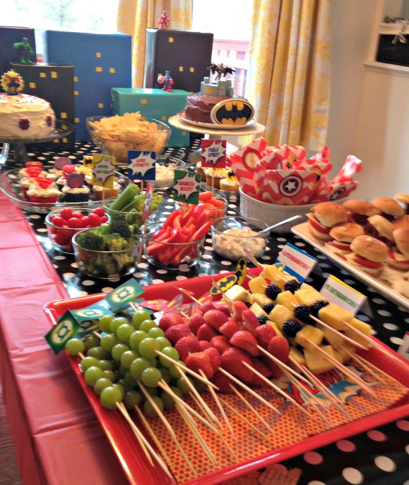 Super Hero Birthday Party Recap