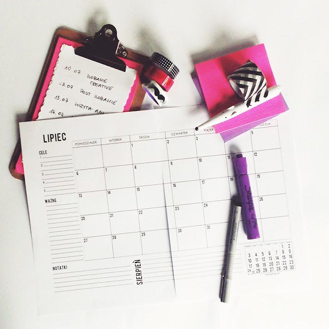 Kalendarz DIY do wydrukowania