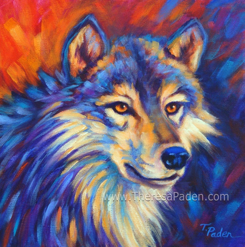 Gallery For gt Colorful Wolf Painting