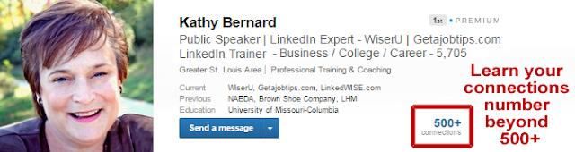 LinkedIn connection number