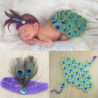 plume-paon-crochet-bébé