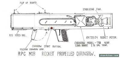 rocket propelled chainsaw rocket launcher blueprints