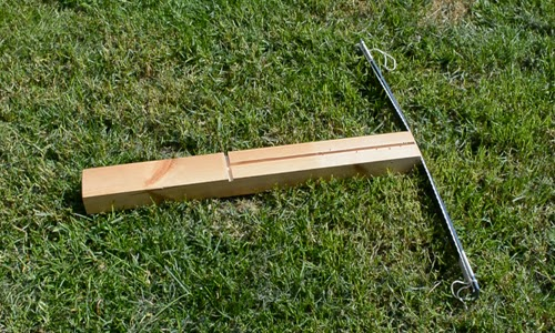 Homemade crossbow.