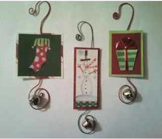 Christmas card jingle ornaments