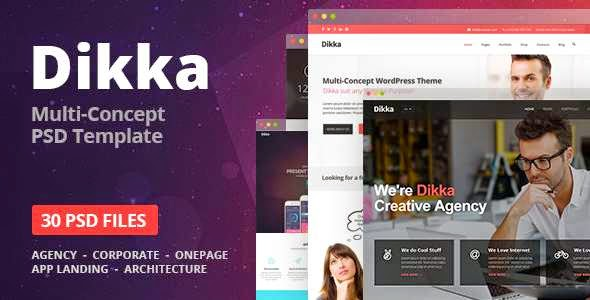 Dikka - Elegant Multi-Purpose PSD Template