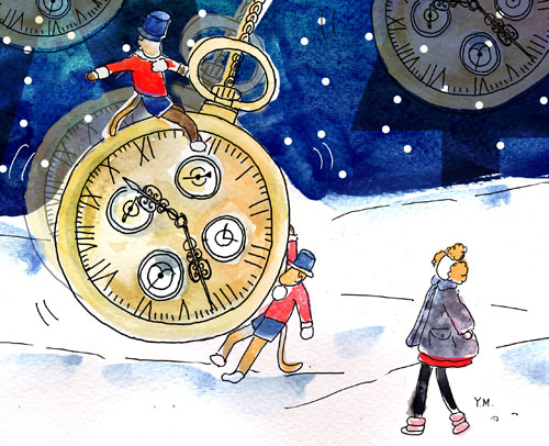 Vitrine de Noël 2013 aux Galleries Lafayette par Yukié Matsushita