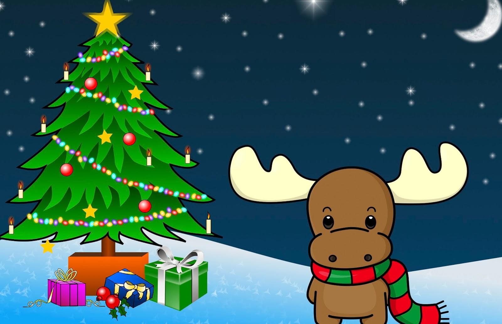 Tarjeta de Navidad Reno Ternura Descarga Gratis  Artes DaVinci