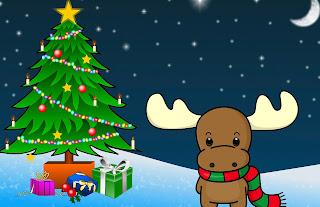 Tarjeta de Navidad Reno Ternura