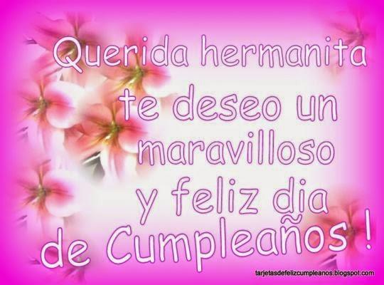Saludo De Cumpleaños Para Mi Hermana