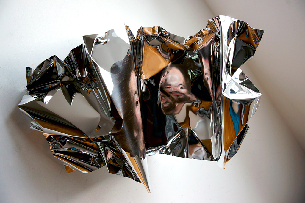 03-Martin-C-Herbst-Oil-Painting-on-Folded-Mirror-Polished-Aluminium-Foil-www-designstack-co