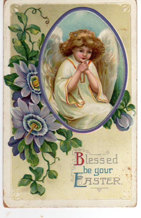 View From The Birdhouse Vintage Easter Angel Cards