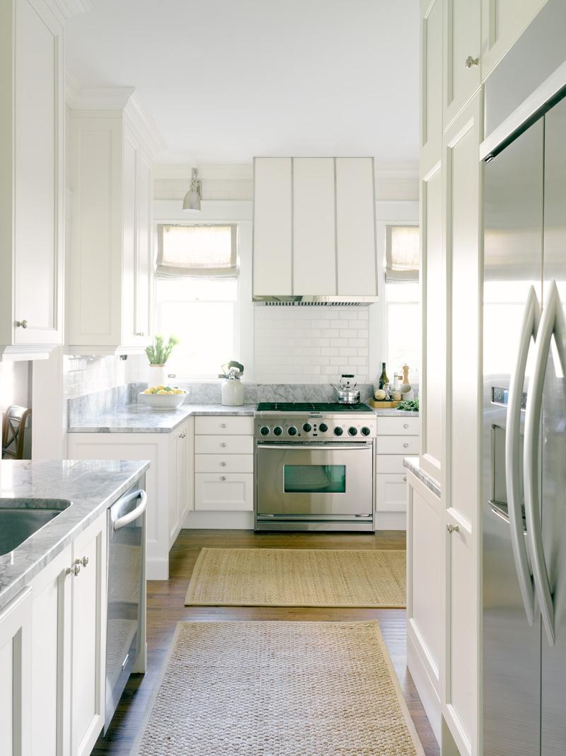 in good taste white bright kitchen