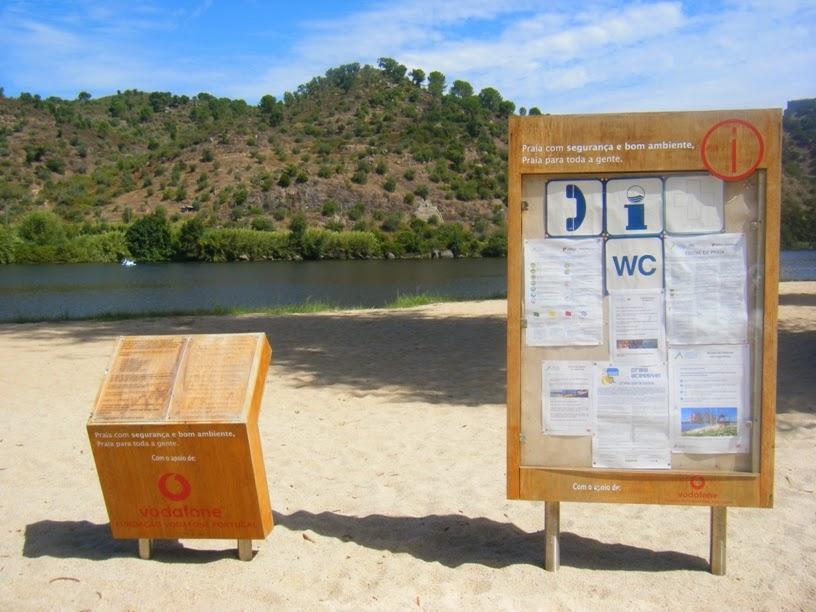 Informação na Praia Fluvial