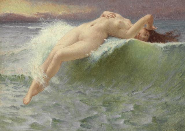 the wave,Guillaume Seignac,venus painting