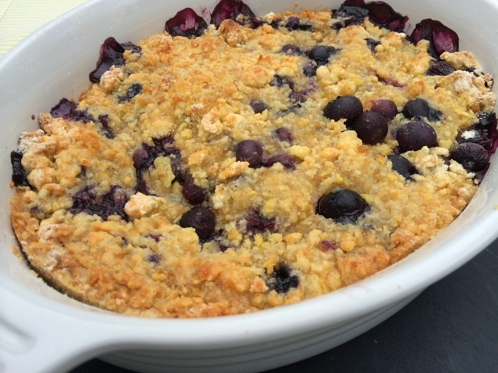 Quick and Easy Blueberry Crisp
