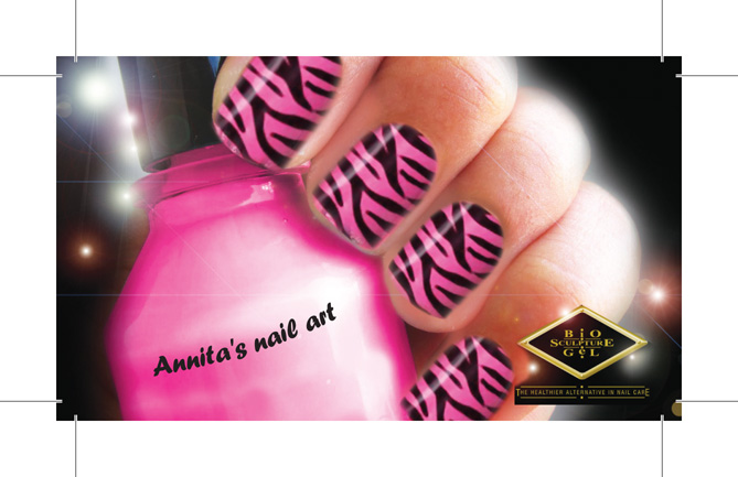 Natasha Essentials Business Card Design Nail Art