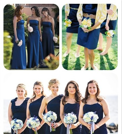 Its good to be queen navy blue wedding ideas for august wedding navy blue bridesmaid dresses junglespirit Choice Image