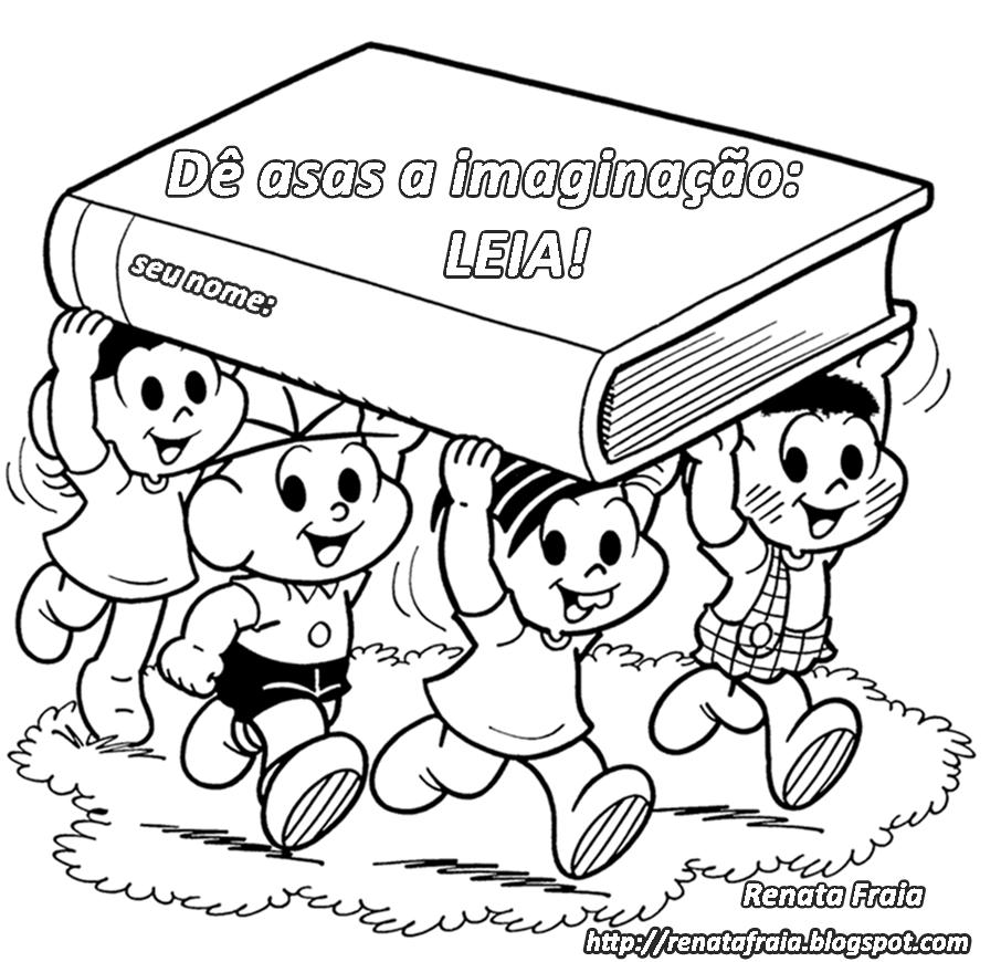 Desenhos educativos para colorir: Livro - Dê asas a imaginação! (Turma da Mônica)
