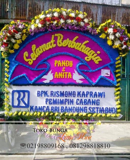 bunga ucapan selamat berbahagia, bunga papan pernikahan, toko bunga