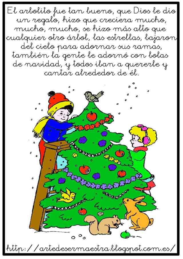 El rbol de navidad - Cuento del arbol de navidad ...