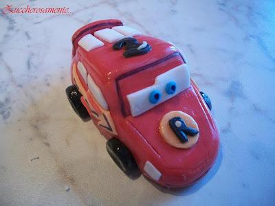 Cake topper Saetta mcqueen cars in pasta di zucchero