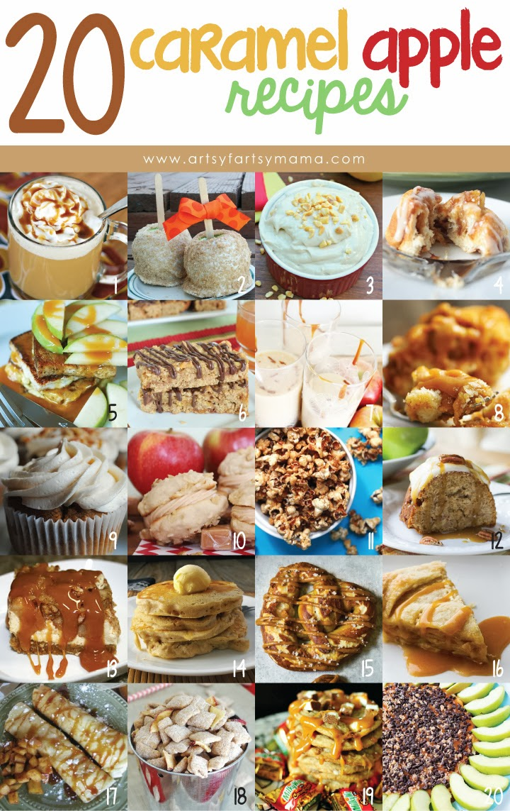 20 Caramel Apple Recipes at artsyfartsymama.com