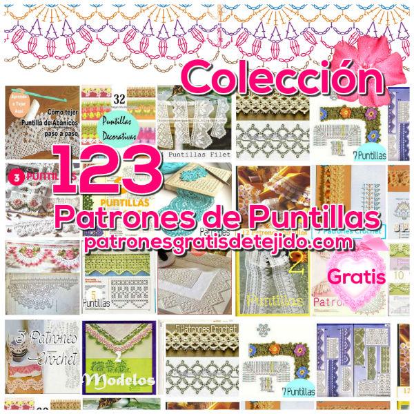 coleccion de patrones gratis de crochet PUNTILLAS