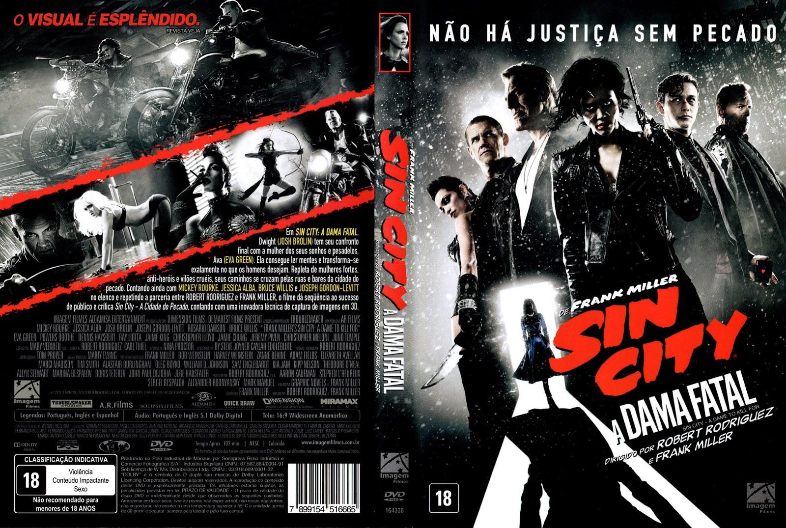 Capa DVD Sin City A Dama Fatal