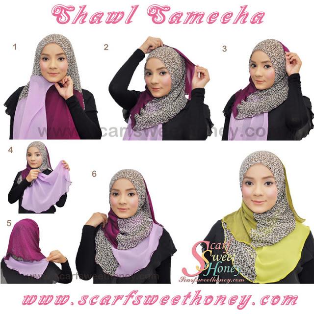 cara memakai hijab style 8