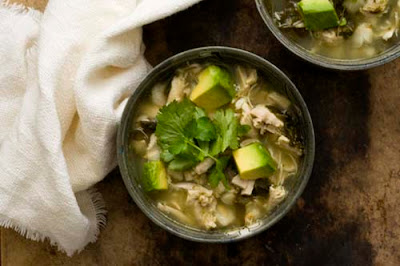 Chicken posole verde with kale (chicken pozole verde)