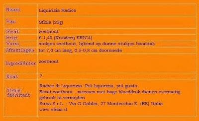Liquirizia Radice (zoethoutstokjes)