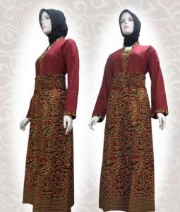 Baju Batik Gamis Model Terbaru