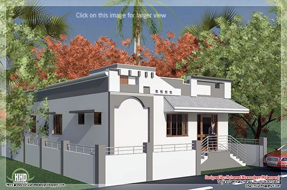 Tamilnadu single floor house