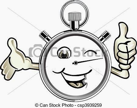 Dibujo de un cronómetro en actitud positiva