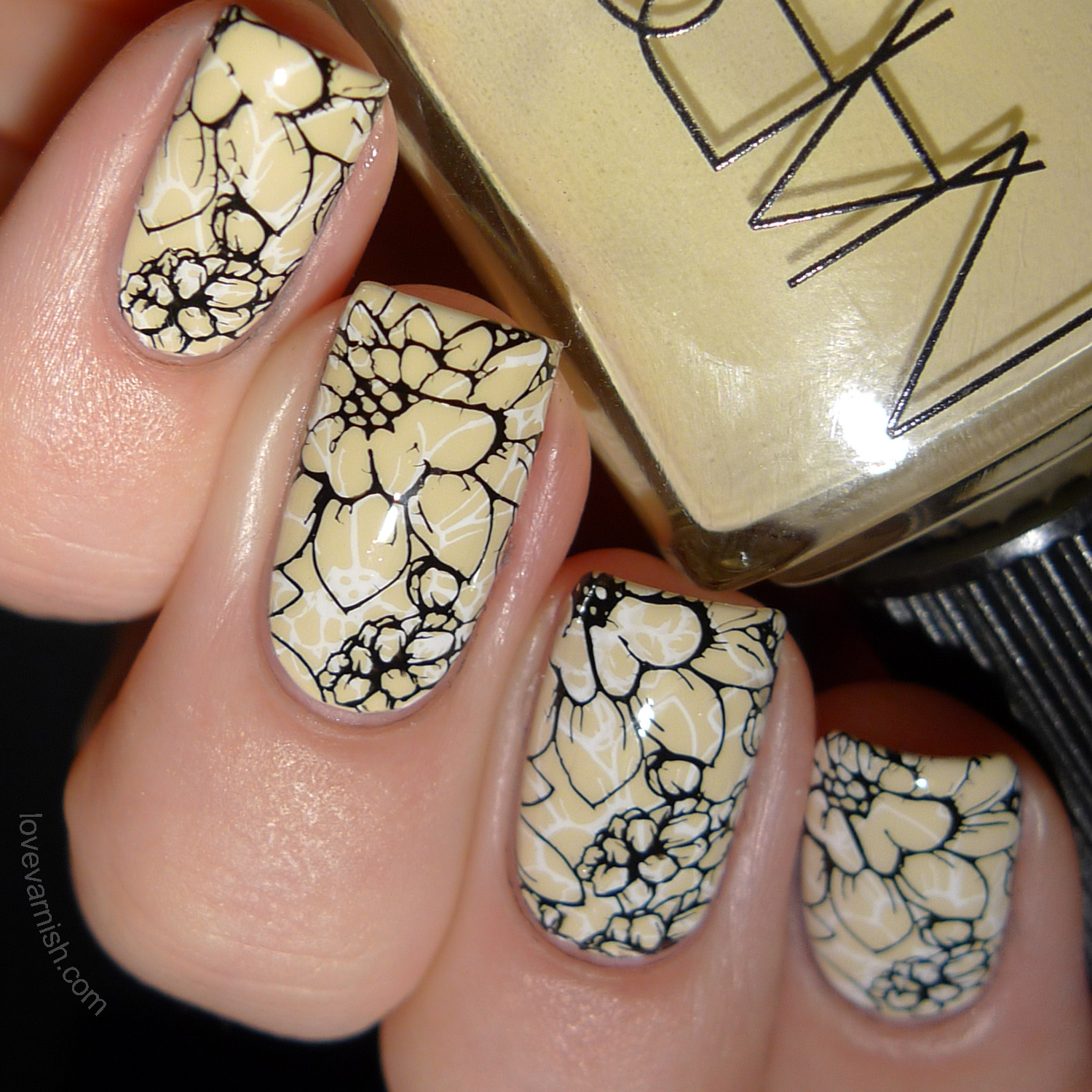 NARS Anarchy double stamping nail art MoYou London